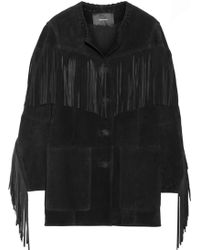 Isabel Marant Miel Fringed Suede Jacket - Lyst