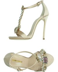 DSquared² Sandals pink - Lyst