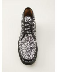 KENZO - 'Norma' Logo Print Desert Boots - Lyst