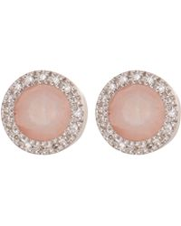 Monica Vinader - Rose Diva Circle Stud Earrings - Lyst
