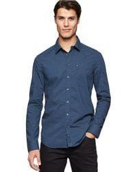 Calvin Klein Jeans Modern Fit Pin Dot Sportshirt - Lyst