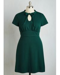 ModCloth | Archival Revival Dress In Pine | Lyst