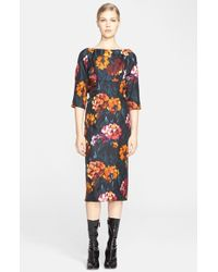 Marc Jacobs Floral Print Silk Twill Dress - Lyst