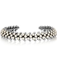 Ryan Storer - Silver-plated, Swarovski Crystal And Faux Pearl Choker - Lyst