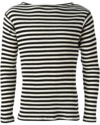 Saint Laurent Black Striped Jumper - Lyst