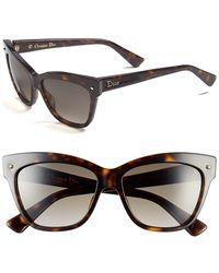 Dior Women'S 'Jupon' 55Mm Retro Sunglasses - Dark Havana - Lyst