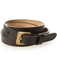 Balenciaga - Stud Wraparound Leather Bracelet - Lyst