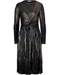 Ferragamo Metallic Cocktail Dress - Lyst