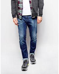 Diesel Jeans Tepphar Skinny Fit 836X Stretch Mid Blue - Lyst