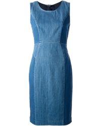 Paul by Paul Smith - Paneled Denim Dress - Lyst