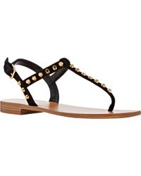 Prada Studded Thong Sandals - Lyst