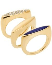 Michael Kors Gold-Tone Stacking Rings - Lyst