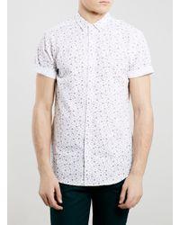Topman Floral Print Short Sleeve Shirt - Lyst