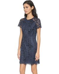 Shoshanna Beverley Lace Dress - Navy - Lyst