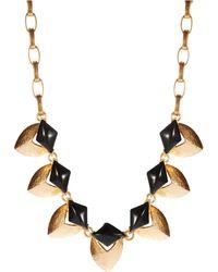 Gerard Yosca Gold Toned Collar Necklace - Lyst