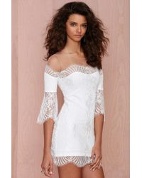 Nasty Gal For Love And Lemons Belle Lace Mini Dress - White - Lyst