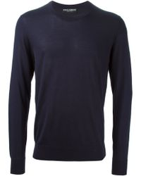 Dolce & Gabbana Classic Round Neck Sweater - Lyst