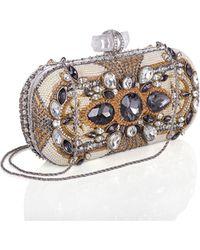 Marchesa Lily Crystal Box Clutch Bag multicolor - Lyst