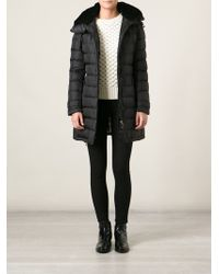 Burberry Hooded Padded Belted Coat - Lyst