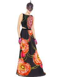 Manish Arora - Sequined & Printed Crepe Gown - Lyst