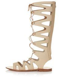 Topshop Figtree Gladiator Sandals - Lyst