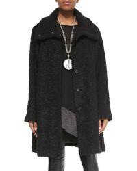 Eileen Fisher Curly Alpaca Boxy Coat - Lyst
