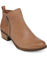 Lucky Brand Beige Basel Booties - Lyst