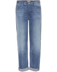 Mother The Brother Boyfriend Jeans blue - Lyst