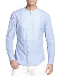Ralph Lauren Black Label Striped Bib Cotton Shirt - Lyst