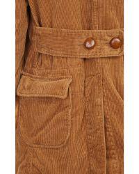 Engineered Garments - Faux Shearling Collar Corduroy Coat - Lyst