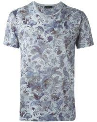 Etro   Botanical Print T-shirt   Lyst