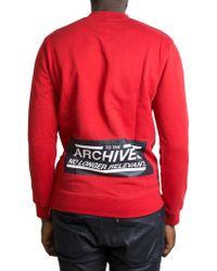 Raf Simons | Red Sweatshirt | Lyst