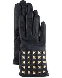 Valentino Rockstud-sleeve Leather Gloves - Lyst