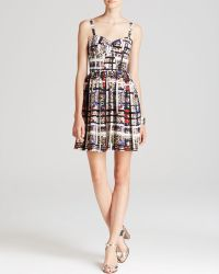 Amanda Uprichard Dress  Champagne Leopard Print Silk - Lyst