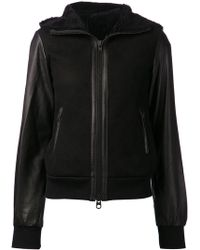 Y-3 Black Hooded Jacket - Lyst