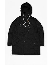 French Connection Ranunculus Cotton Hooded Parka - Lyst