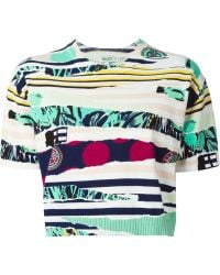 Kenzo Multicolor  Cropped Sweater - Lyst