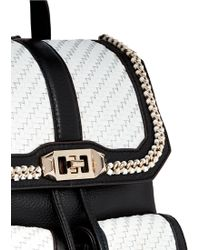Rebecca Minkoff   'love' Woven Flap Leather Backpack   Lyst
