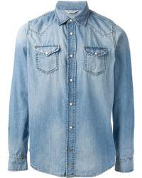 Diesel Westernstyle Denim Shirt - Lyst