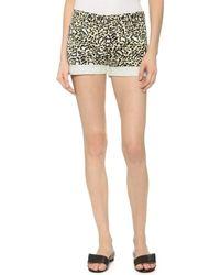 Stella McCartney Skinny Shorts - Multi - Lyst