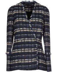 Proenza Schouler Boxy Tweed Jacket blue - Lyst