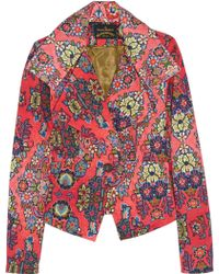 Vivienne Westwood Anglomania Whisper Printed Stretchcotton Jacket - Lyst