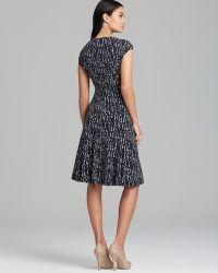 Anne Klein Dress V Neck Cap Sleeve Polka Dot Swing - Lyst
