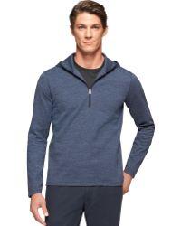 Calvin Klein Blue Quarter-zip Hoodie - Lyst