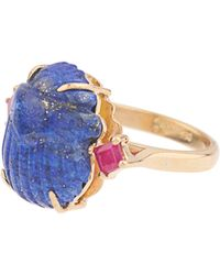Silvia Furmanovich | Lapis Lazuli And Ruby Yellow-gold Ring | Lyst