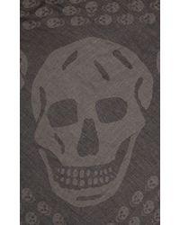 Alexander McQueen Skull Triangle Scarf - Lyst