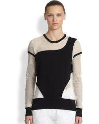 Ohne Titel - Mesh Panel Sweatshirt - Lyst