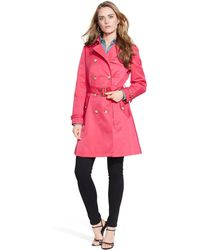 Ralph Lauren Double-Breasted Trench Coat - Lyst