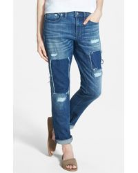 Madewell 'Patched Up' Slim Boyfriend Jeans - Lyst