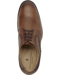 a111fa5820e Martin Dingman - Pecan Winston Burnished Saddle Leather Oxfords - Lyst